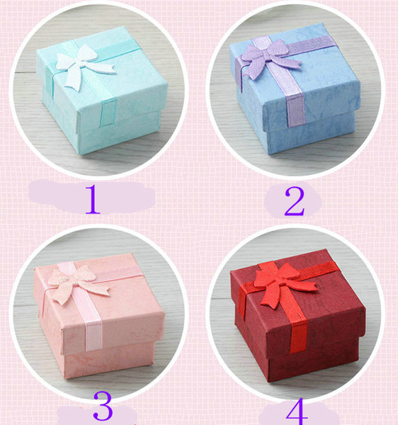 """best selling 500pcs lot Square Ring Earring Necklace Jewelry Box Gift DISPLAY 4cm (1.6"""") * 4cm (1.6"""")*3cm(1.2"""")"""
