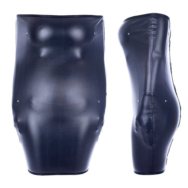 Arms Fixed BDSM Bondage Restraints PU Leather Arm Hands Sexy Straitjacket Skirt Adult Games Sex Toys For Woman Y18102405