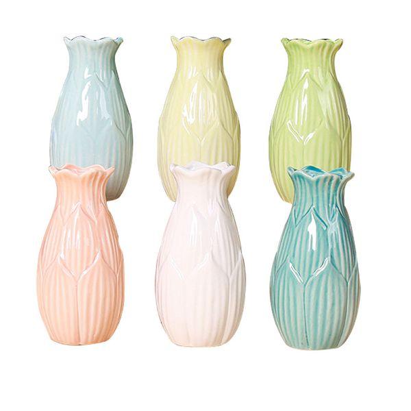 Colorful Ceramic Decorative Ornaments Vase Combination Dining Table
