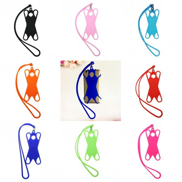 Colorful Card Holder Strap Uomo Donna Cellulare Collana Sling Multi Color Silicone Neck Lanyard 4 28ys C R