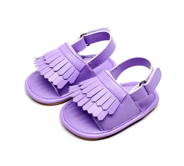 Baby Sandals Summer Newborns Leisure Baby Girls Sandals of Children PU Tassel Clogs Shoes Toddlers Infant Sandals 14 Colors