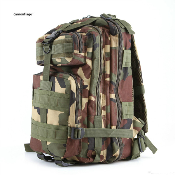 Practical popular outdoor sports camouflage backpacks Military enthusiasts  climbing package on foot Backpack shoulders 3 p tactics DHL free 5238c031d5e84