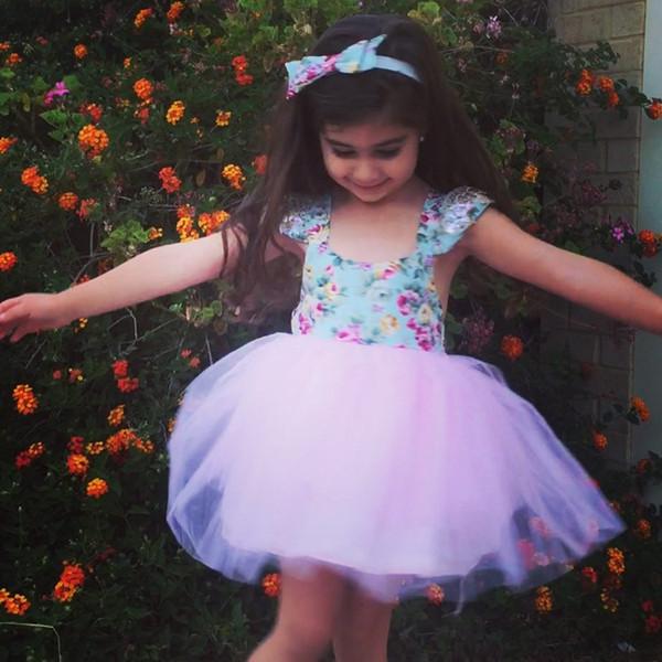 Sommer Kleinkind Baby Mädchen Kleid Lace Floral Party Kleid Freizeitkleidung
