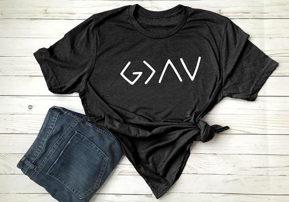 Das T-Stück der Frauen Gott ist größeres T-Shirt Frauen-lustiges religiöses T-Shirt Art und Weise kleidet weibliche T-Stücke Spitzen-Schiff