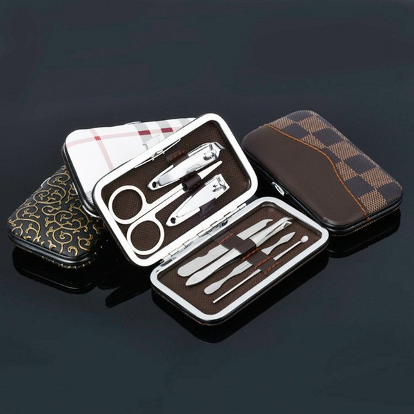best selling 7pcs Nail Care Tools Manicure Sets Nail Clippers Nail Scissors Tweezer Manicure Pedicure Set Travel Grooming Kit with Retail Package 3006096