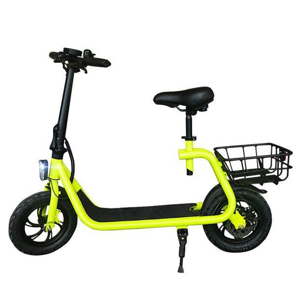 Daibot Scooter elettrico per adulti a due ruote con motore elettrico per bambini Con seggiolino per bambini a 12 pollici 350W 36V elettrico con due ruote per auto elettrica