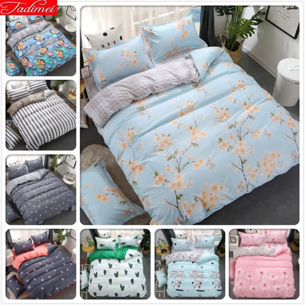 Duvet Cover 3/4 pcs Bedding Set Classical Flower Pattern Adult Kids Child Soft Bed Linens Single Double Queen King Size 180x220