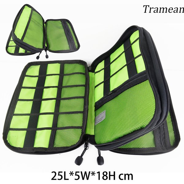 New Travel Bag Double-deck Electronic Accessories Nylon Mens Travel Organizer For Date Line SD Card USB Cable z30