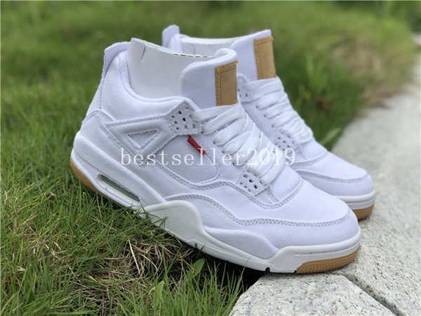 2018 Release 4 Denim 4s White Jean Jiont Mens Basketball Shoes Trainers Zapatos Designer Sneakers with Box 40-47