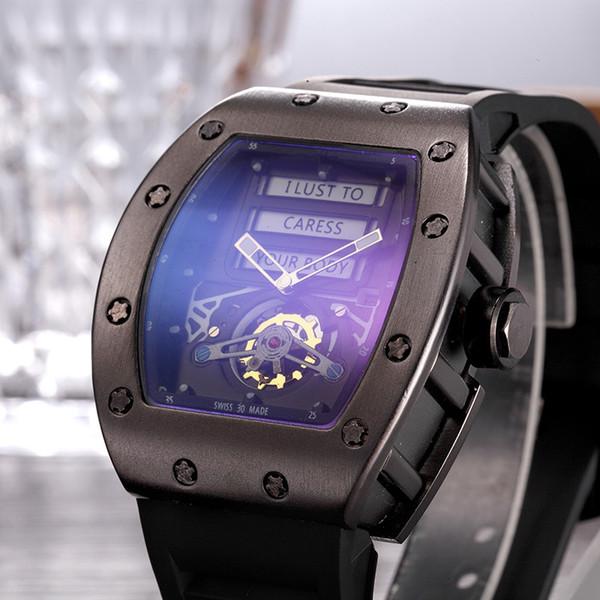 AAA+quality men luxury sport watch rm011 black rubber strap rose gold case automatic quartz watches Fm relogio big bang bond wristwatch pam