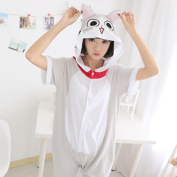 pigiama Homewear delle coppie sveglie del pigiama del gatto di estate del formaggio di estate animale libero di trasporto