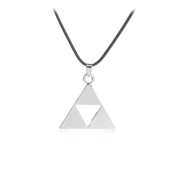 Legend of Zelda the Triforce Zelda Triforce Necklace Alloy Triangle Figure Pendant Necklace Fashion Jewelry for Women Men