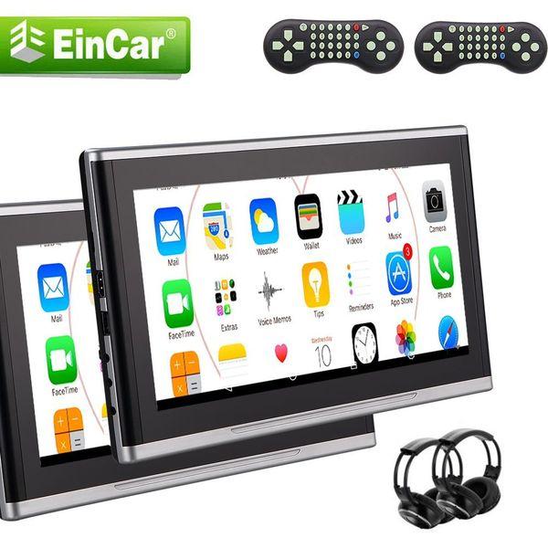 Dual 2 PCS Encosto de Cabeça Do Carro 10.1 '' Carro DVD / Multimedia Player Encosto de Cabeça Do Assento de Controle Remoto USB SD IR Transmissor FM + 2 IR Infravermelho fones de ouvido