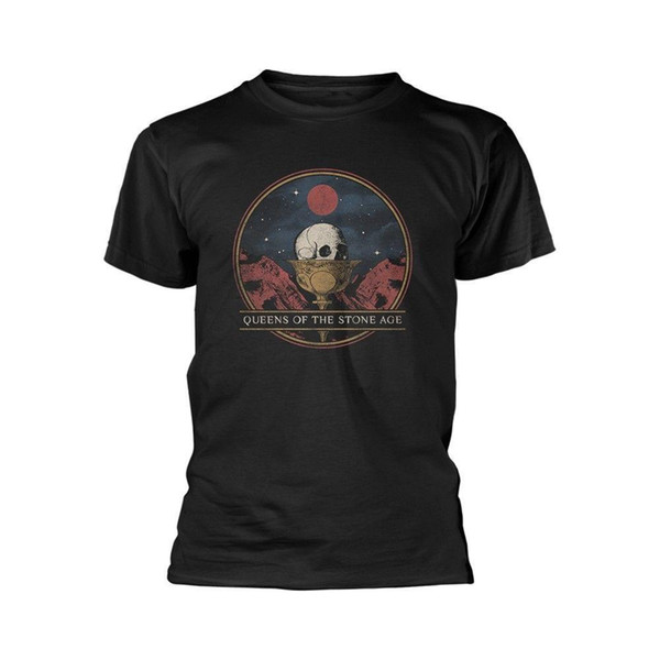 Queens of the Stone Age Glass Josh Homme QOTSA Official Tee T-Shirt Mens Unisex