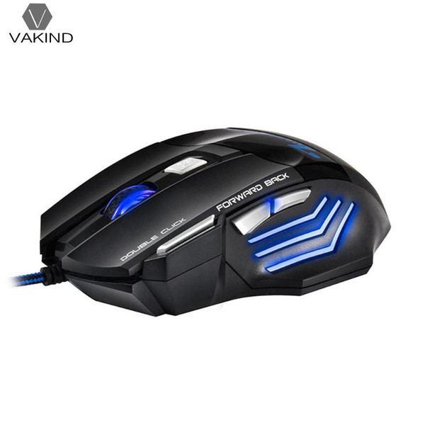 VAKIND X7 Professional USB Wired Gaming Mouse 7 Button 2400 DPI Optical Mouse for