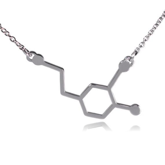 hollow Formula Chemistry Molecule Necklace Life Hexagon Chemical Molecular Structure Pendant Necklace Polygon Geometry Gift Necklace Jewelry