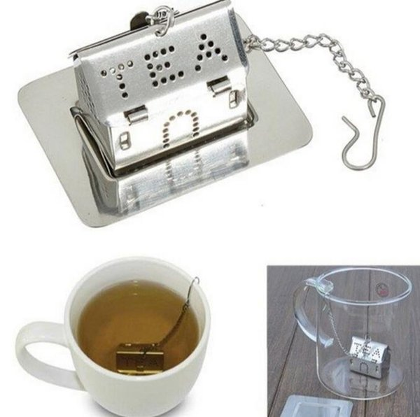 100pcs FREE SHIPPING+Wedding Favors Tea Infusers Stainless Steel Love House Tea Strainers Bridal&Party Giveaway Gift