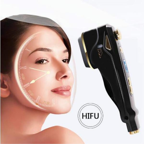 2018 plus récent !!! Peau de levage de visage de HIFU d'utilisation à la maison serrant CE / DHL de machine de soins de la peau de visage de retrait de ride de thérapie de HIFU d'outils de soins de la peau