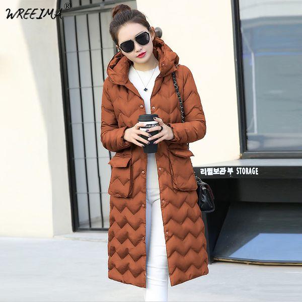 2018 зимняя куртка новая мода женщины ветровки куртка тонкий большой размер с капюшоном куртки студентов женщины толстые теплый хлопок пиджаки L750