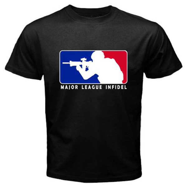 Nova MLI Major League Infidel Logotipo dos homens T-Shirt Preta S M XL XL 2XL 3XL Mens 2018 Marca de moda T Shirt O Pescoço 100% algodão
