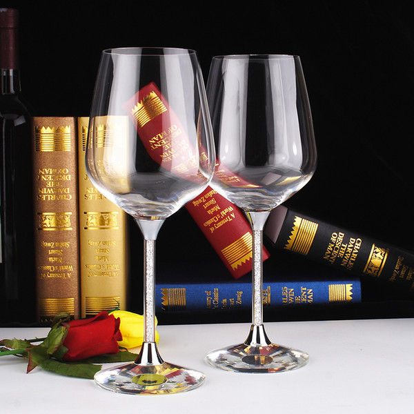Red wine goblet glass cup set factory personalized logo wholesale 518ml 2 PIECES