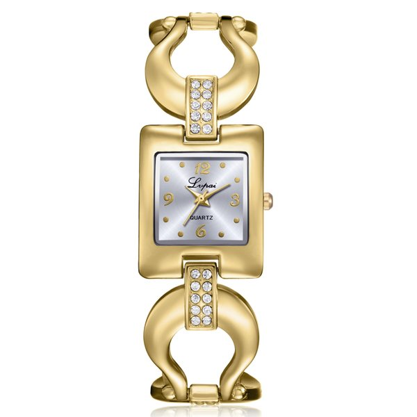 DHL Wholesale Lvpai Women's Watch Crystal Diamond Bracelet Stainless Steel Quartz Wrist Watch Hand Chain Relogio Pretty for Girl Lady P281