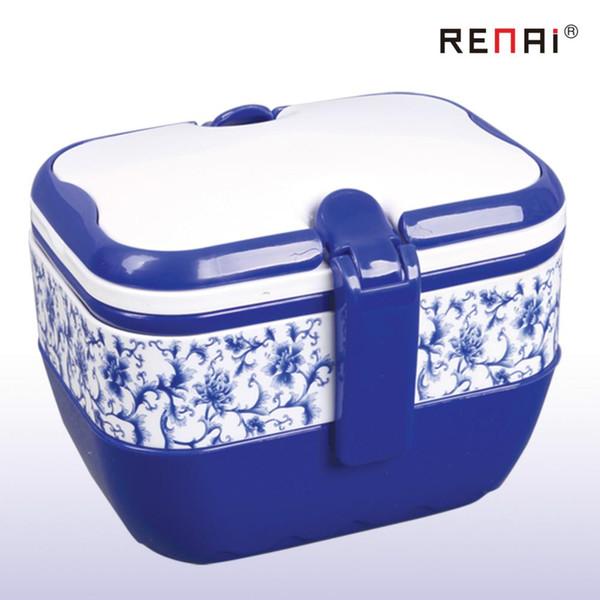 All'ingrosso-2015 qualità Tringle 19 * 13,5 CM scatola pranzo all'ingrosso casa mobile rettangolare blu isolamento in plastica spedizione gratuita