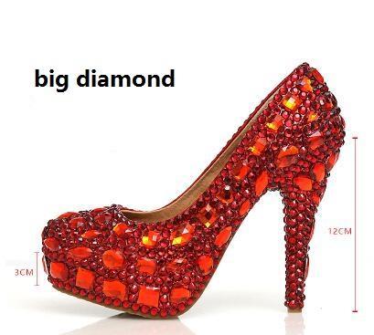 Red 12cm big diamond