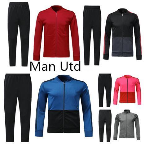 2018 2019 POGBA kit allenamento per la tuta da calcio 18 19 LUKAKU Men united giacca pantaloni allenamento Sportsweater set giacca sportiva da calcio