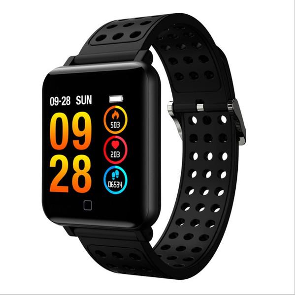 M19 smart bracelet heart rate color screen monitoring sports step Bluetooth waterproof phone information remind blood pressure test