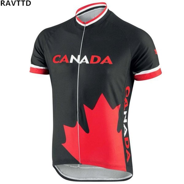 Canada Team Short Sleeve Cycling Jersey Ciclismo Top Bicycle Jersey Bike Cycling Clothing Shirts