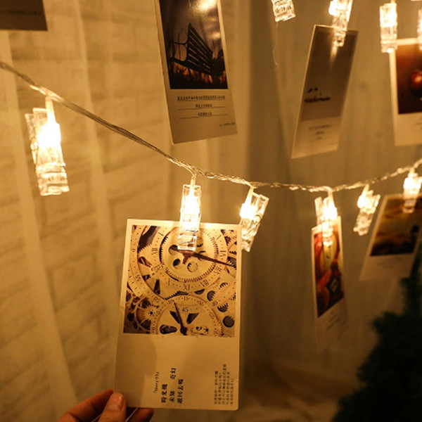 LED Garland Card Photo Clip Led String Fairy Lights Battery Operated Christmas Garlands Wedding Valentines Decoration