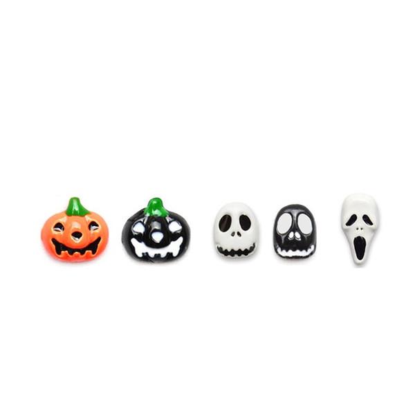 Halloween 3D Nail Stickers Pumpkin Ghost Skull Fingernail Decor Decoration DIY
