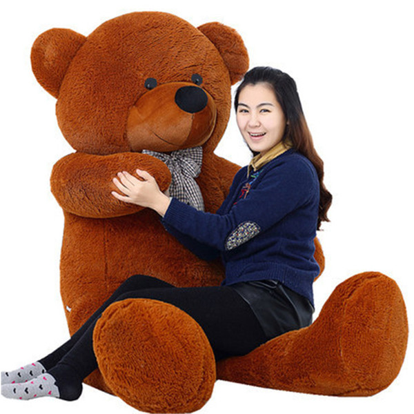 """Hot 100CM GIANT HUGE BIG SOFT PLUSH white TEDDY BEAR Halloween Christmas gift 39"""" Valentine's day gifts free shipping OTH751"""