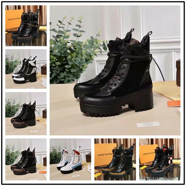 23 style nouvelle marque de luxe de mode en cuir de haute qualité et fond épais confortable confortable respirant dames bottes taille 35-42 + boîte.