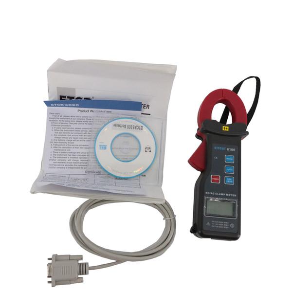 ETCR6100 AC / DC Clamp Meter Tipo de processo Grampo CT, modo sem contato Freqüência 50Hz, 60Hz Identificação automática