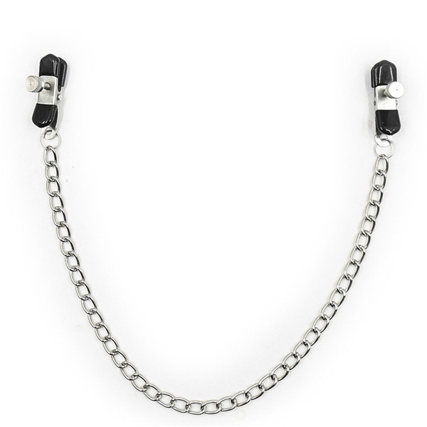 Chained Fetish Nipple Clips Nipple Clamps Tit Play Bondage Gear Torture Masturbation Stimulation Device for Unisex