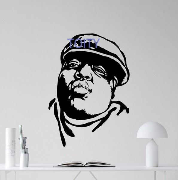 Notorious Big Wall Decal Rap Music Vinyl Sticker Hip Hop Poster Art Decor Mural Restaurant Home Interior Room Mural