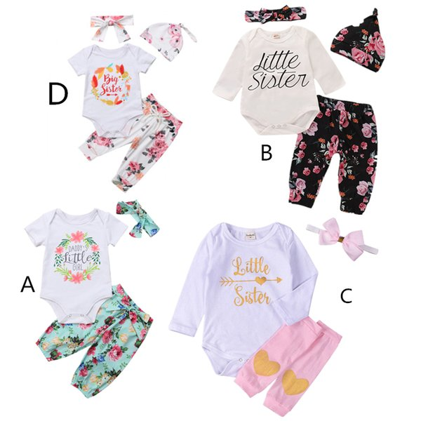 6b4092757a223 2018 Fashion 4 Styles Autumn Big/Little Sister Clothes Newborn Infant Baby  Girl Cotton Tops Romper Floral Pants Outfits From Mobiletoys, $37.25 | ...