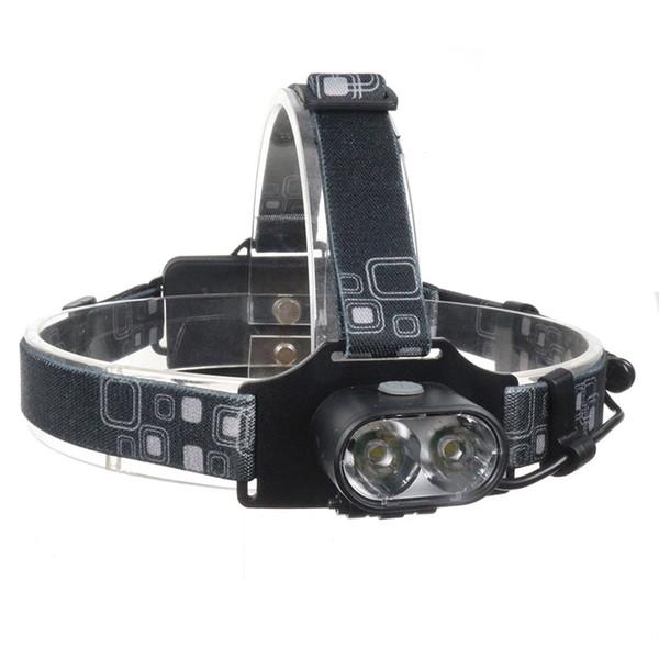 Parlak 3 Modu Su Geçirmez 18650 Cree xml t6 led far 2 T6 LEDS USB Şarj Edilebilir Far için Emniyet Lambası Kamp Balıkçılık