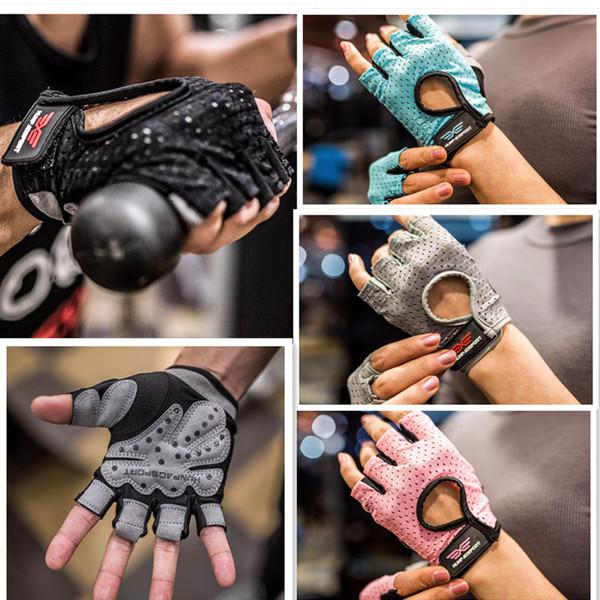 Fitness gloves half finger slip wear-resistant sports riding gloves Sports Gym Gloves Unisex Men Women Weightlifting