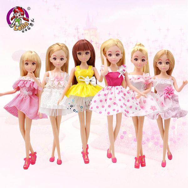 Lelia Fashion Doll Star Action Figure Models Cute DIY American Toys For Girls Dolls Children Princess Set Dress Friend Beautiful