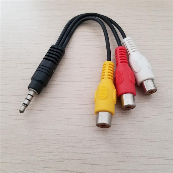 10шт/много 3,5 мм разъем для 3 RCA мужчин и женщин аудио кабель-адаптер