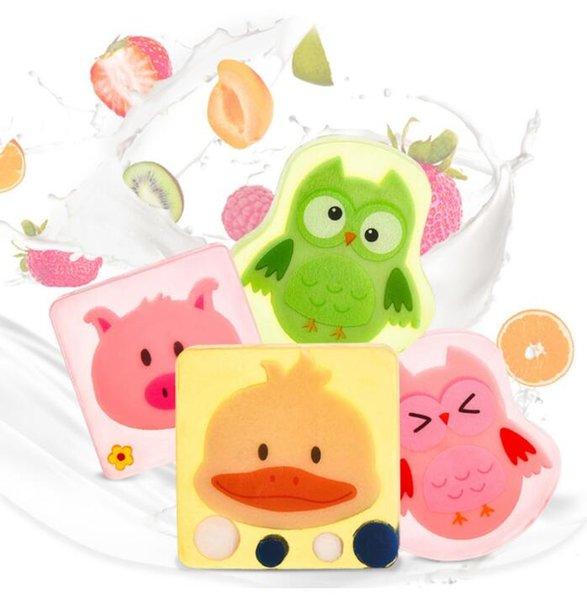 Child Kids Cartoon Animal Cat Dog Handmade Soap Natural Essential Oil Bath Body Soap Skin Cleansing