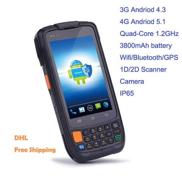 Handheld Industrial Rugged Mobile Computers Smart Inventory Data Terminal With 1D 2D Scanner Camera 3G 4G WIFI GPS Bluetooth GSM