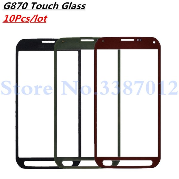 10Pcs/lot Touch Screen Glass Replacement For Galaxy S5 Active G870A G870 Outer Front Screen Glass Lens Cover