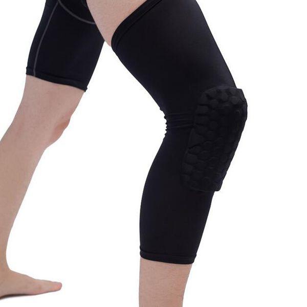 Nid d'abeille sport bandes de sécurité volley-ball basket genouillère chaussettes de compression genouillères protection brace accessoires de mode pack unique