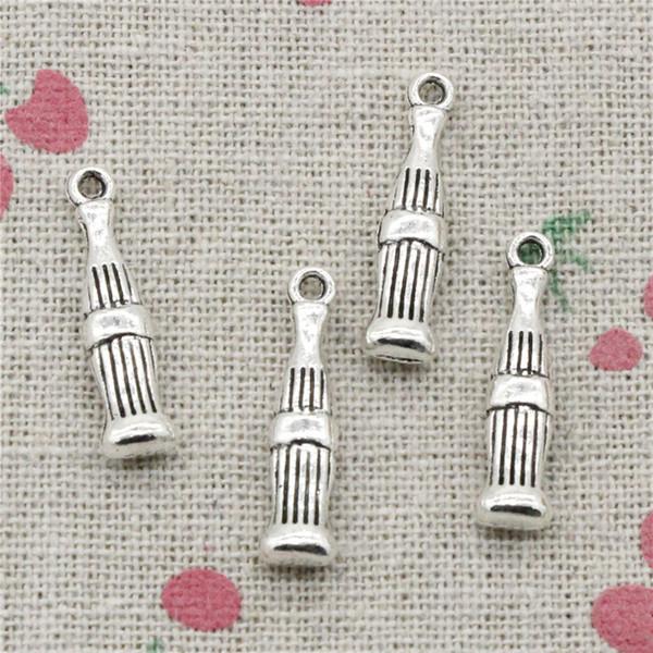 100pcs Charms coke bottle 24*5mm Antique Silver Pendant Zinc Alloy Jewelry DIY Hand Made Bracelet Necklace Fitting