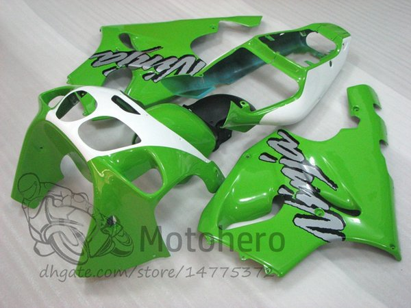 3Gifts Fairings For KAWASAKI NINJA ZX7R 1996 1997 1998 1999 2000 2001 2002 2003 YEAR green white ZX7R 636 96-03 motorcycle fairing bodywork