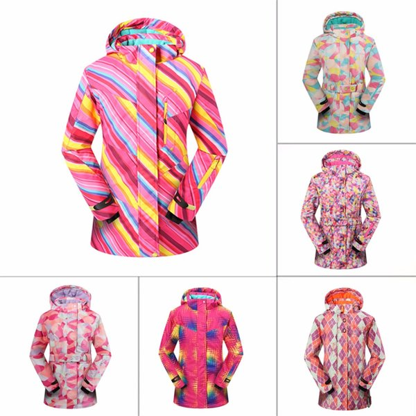 2017 New Girls Youth Perrito Winter Ski Snowboard Beautiful Jacket Parka Coat girl Waterproof Windproof Snowboard Coat